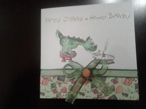 Geburtstagkarte DINO