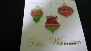 Weihnachtskarte Tannenbaumdekor